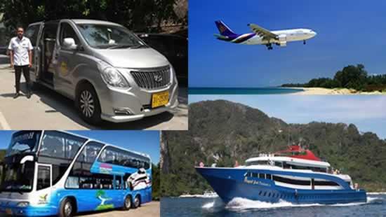 Trasferimenti Phuket - taxi, Mini van, aereo, bus, traghetto...