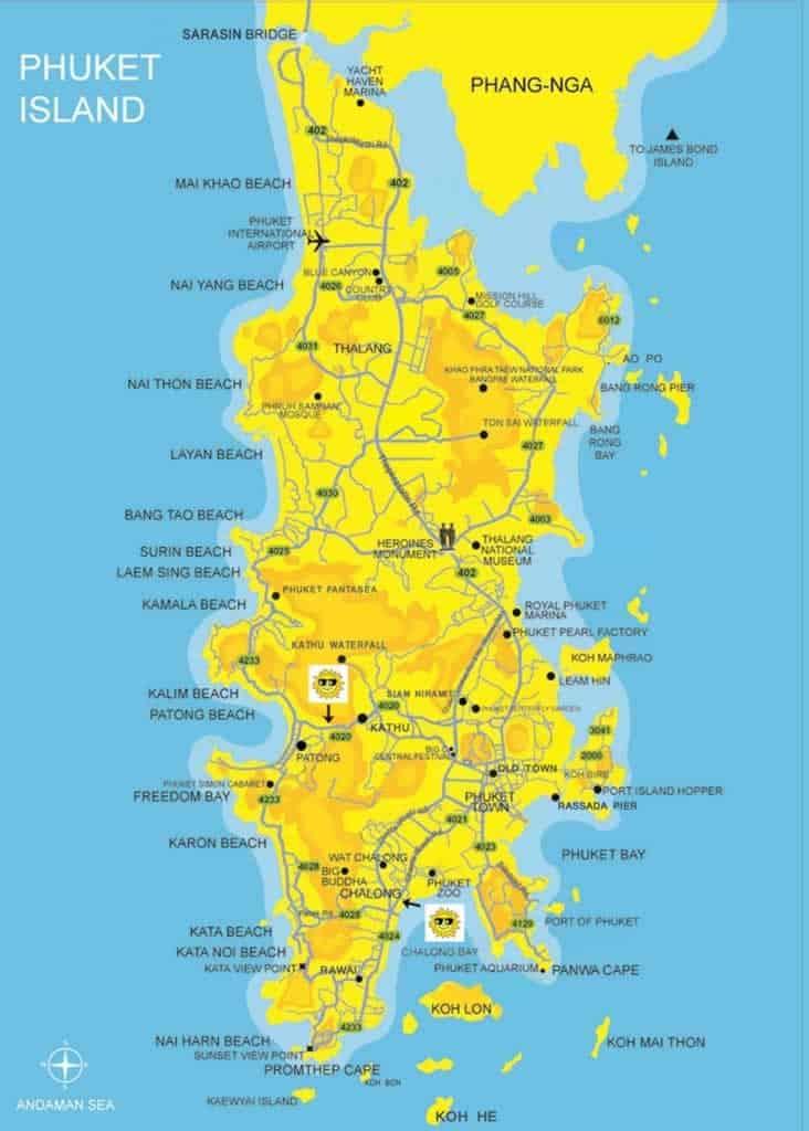 Mappa Phuket