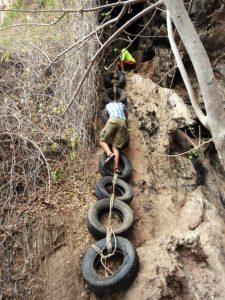 Koh Phee arrampicata sui pneumatici